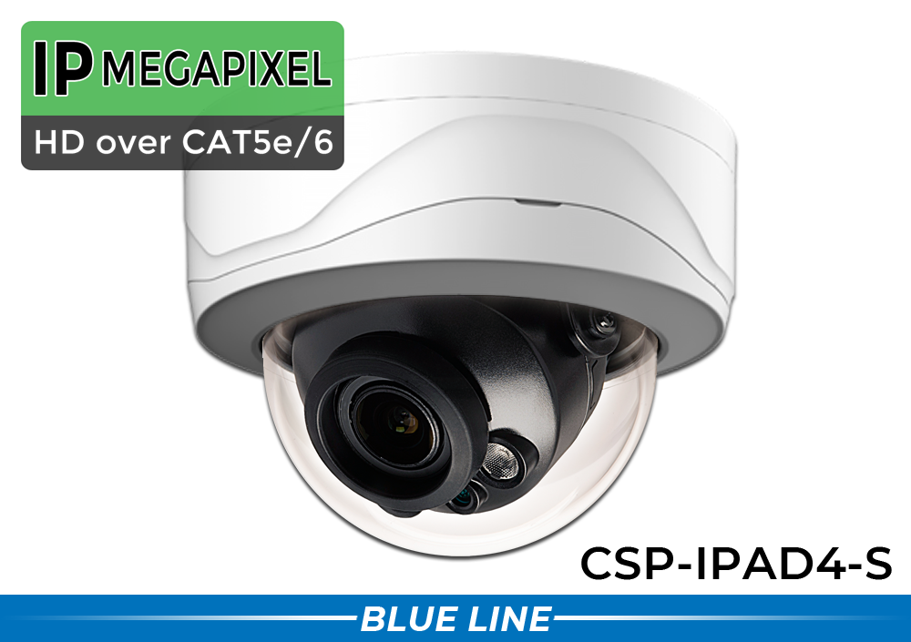 4MP Vandal Dome Security Camera with Motorized Zoom Lens
