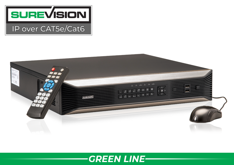 SUREVISION 64 Channel 4K Network Video Recorder with 8 Hard Drive Slots