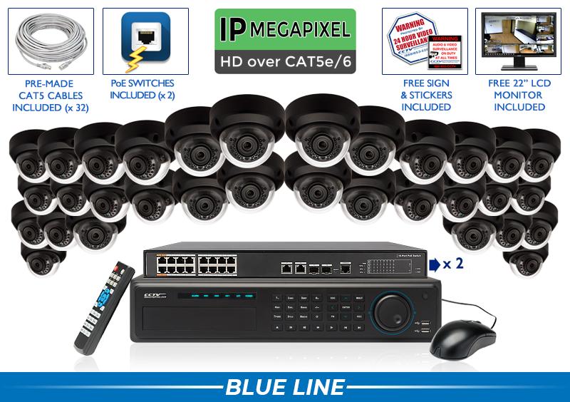 EXTREME Series Complete 32 IP Camera System / 32NVRMD5-B