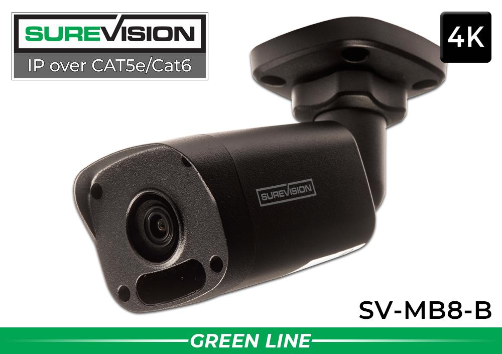 4K IP Video Surveillance System with 4 Bullet Cameras / 4IPMB8-B-N