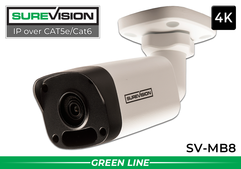 Complete 2 Camera (4K) Night Vision IP Bullet Camera System with 4 Channel NVR / 2IPMB8-V2
