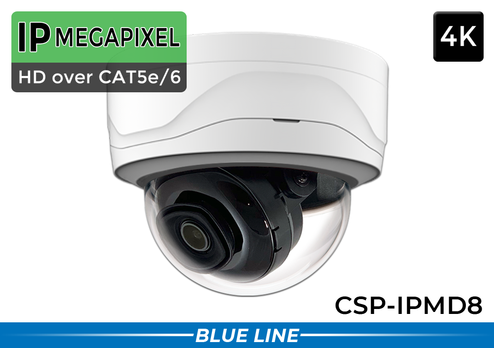 4K Dome IP System with Night Vision and Low Light Starlight / 16POEMD8