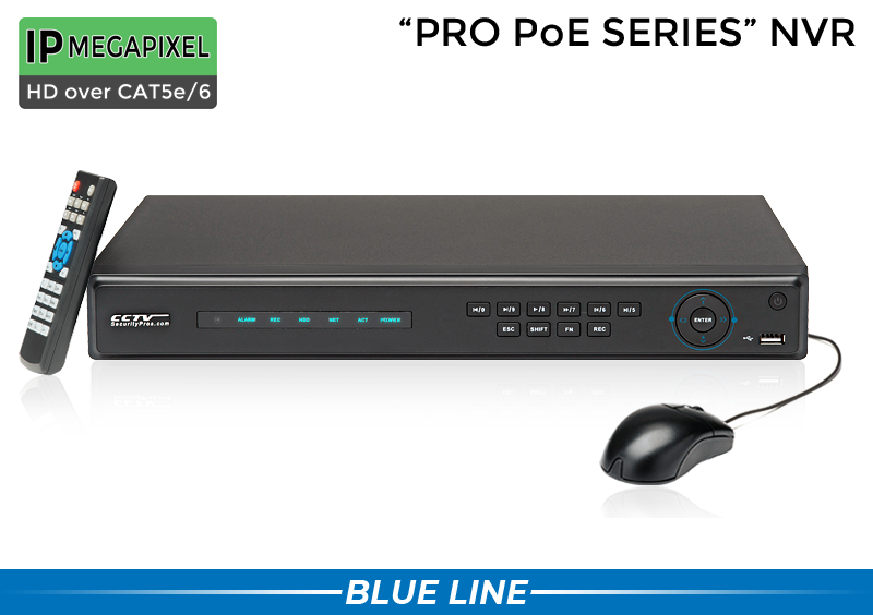 IP Security Camera System with 4 IP Microphone Cameras and 8 Channel NVR / 4POEMIC8