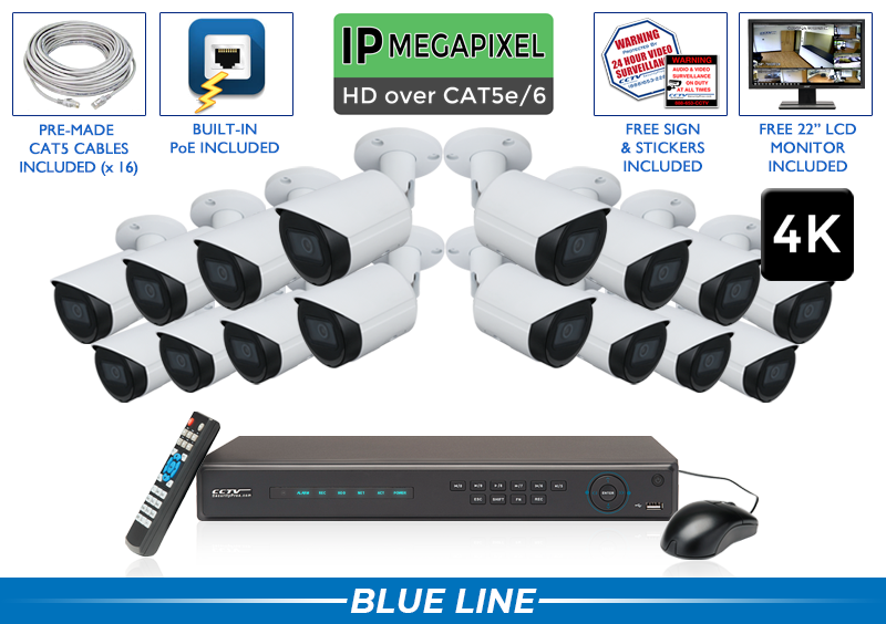 4K IP Professional POE IP System / 16POEB8-S