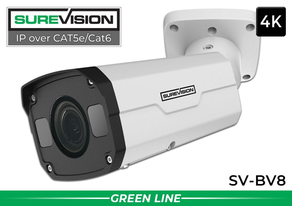 4K IP Motorized Zoom Network IR Bullet Security Camera