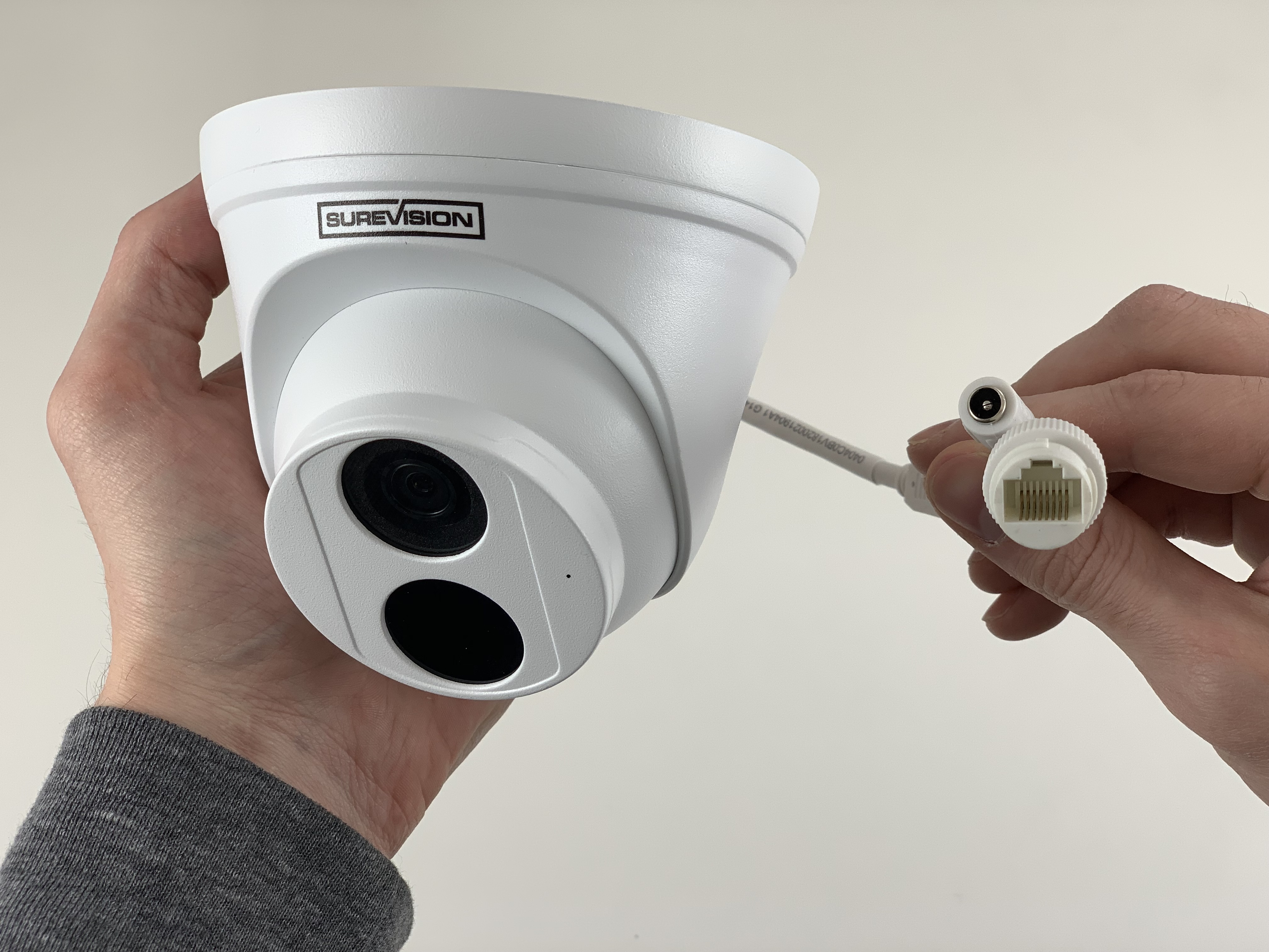 4 MP Wide Angle Dome IP Camera with Starlight 100 Foot Night Vision and Built-in Microphone