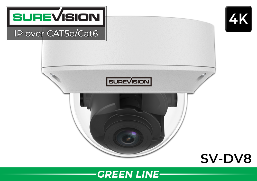 4K IP Security Camera with Motorized Zoom and 100 Foot Night Vision