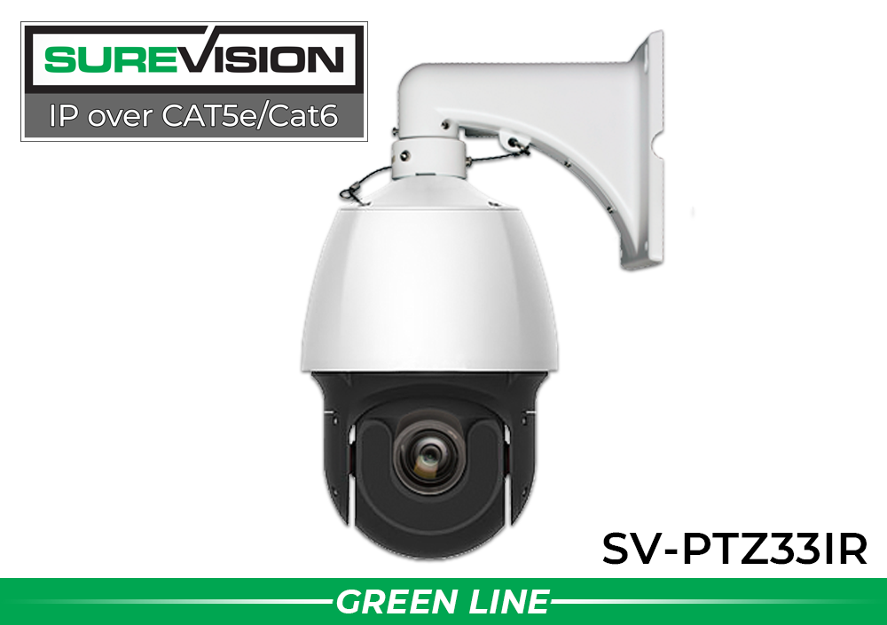 4MP Network POE IP PTZ Dome Camera with 33x Zoom and Over 600 Foot Night Vision