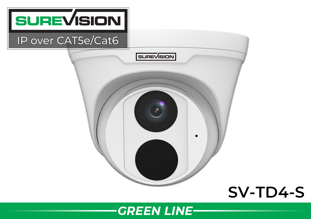2 Camera Dome IP Surveillance System with Built-in Microphone / 2IPTD4-N