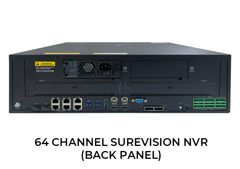64 Channel Surevision Network Video Recorder with Hard Drive