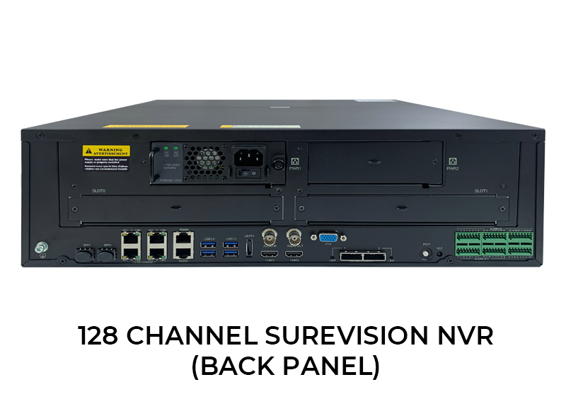 NEW PRODUCT ALERT! 128 Channel Surevision Network Video Recorder with 8 Terabyte Hard Drive Included