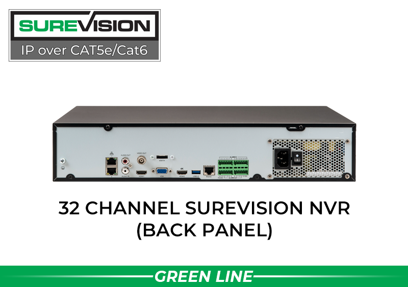 32 Channel 4K Network Video Recorder with 4 Hard Drive Bays NDAA Compliant