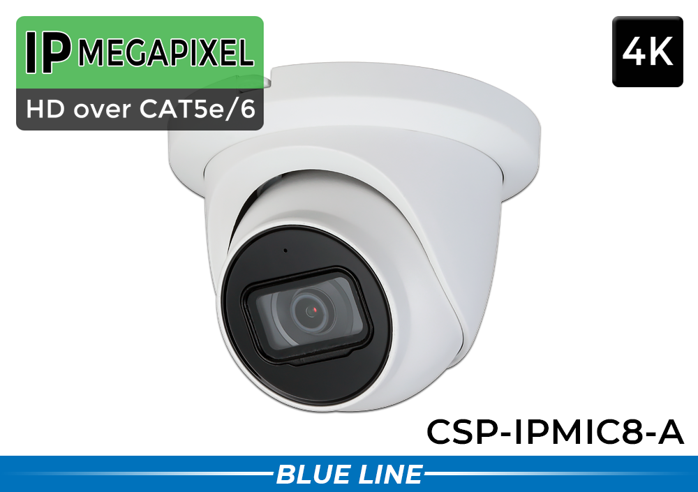 AI Dome 4K IP Security Camera with Audio Microphone / CSP-IPMIC8-A