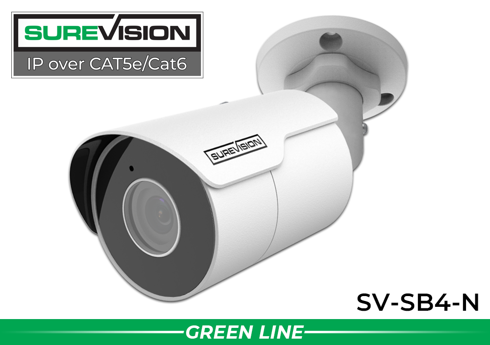 IP System with 2 Bullet Security Cameras with 164 Foot Night Vision/ 2IPSB4-N