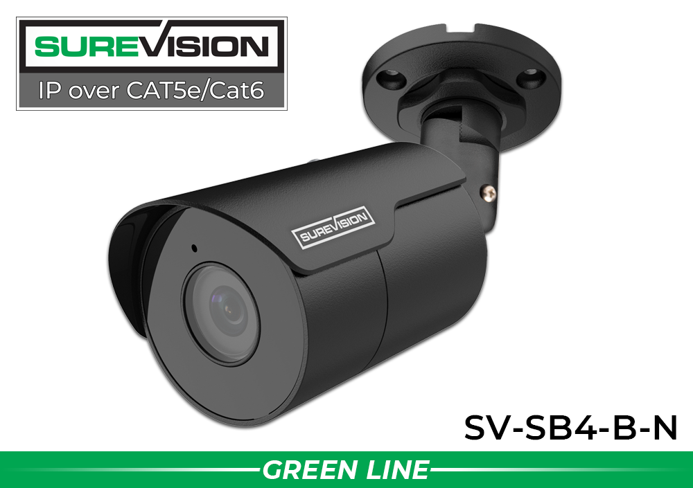 IP System with 2 Bullet Security Cameras with 164 Foot Night Vision/ 2IPSB4-B-N