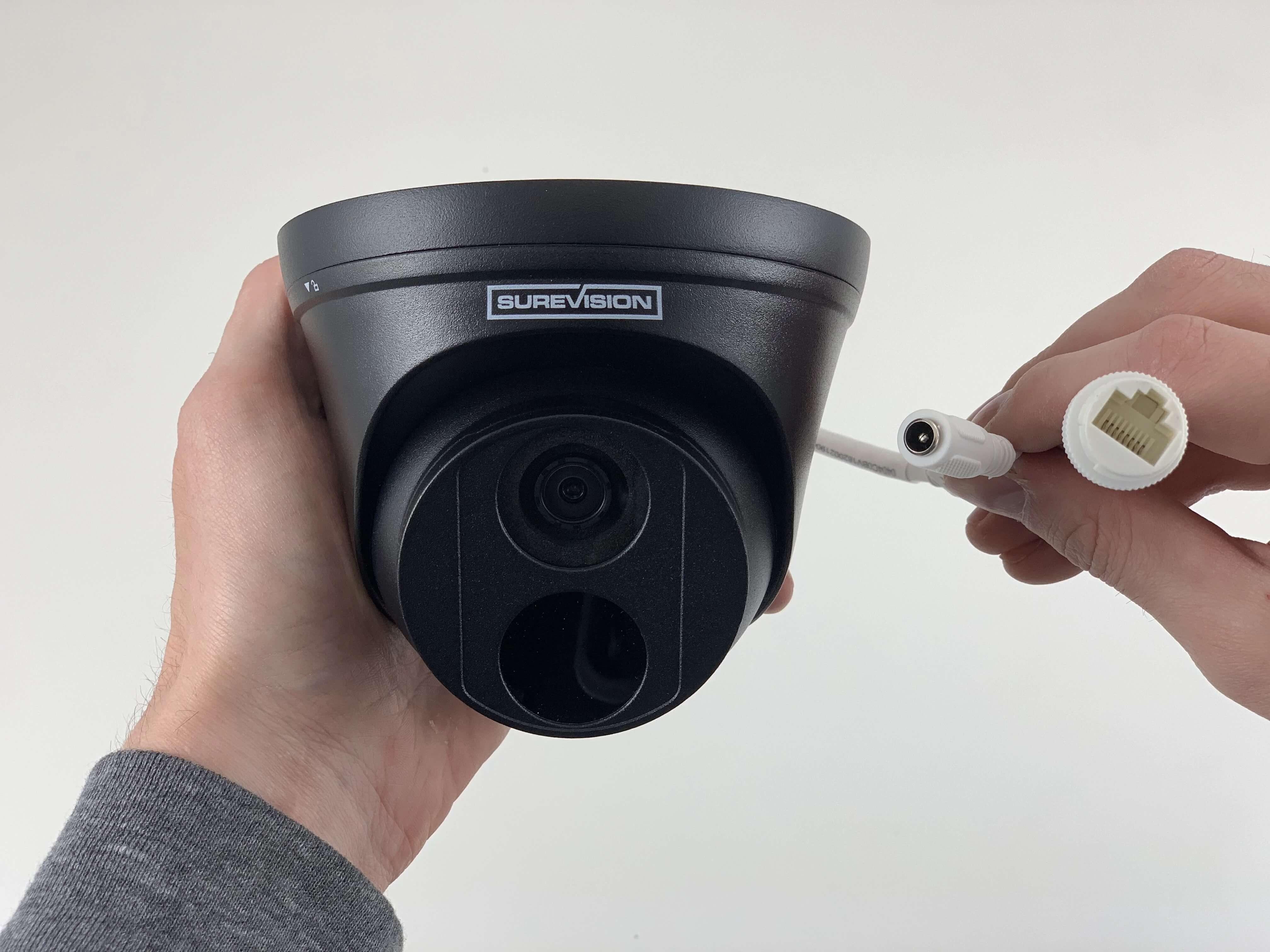 4MP Fixed Dome IP Network Camera - Black