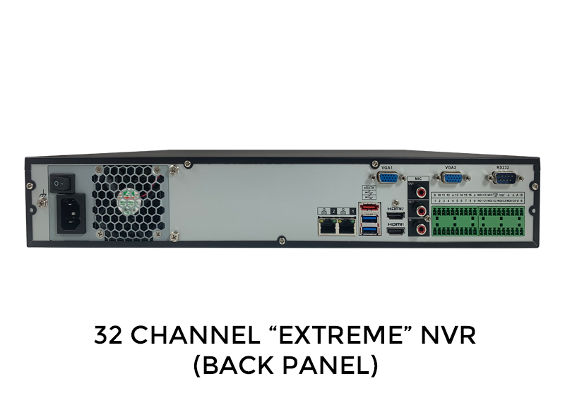 32 Channel IP 4K Network Video Recorder with 4 Hard Drive Bays