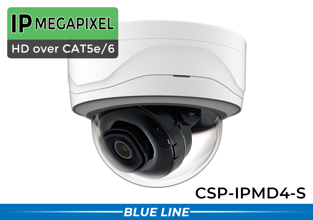 8  Camera Dome IP POE System with Dome Night Vision Cameras / 8POEMD4-S