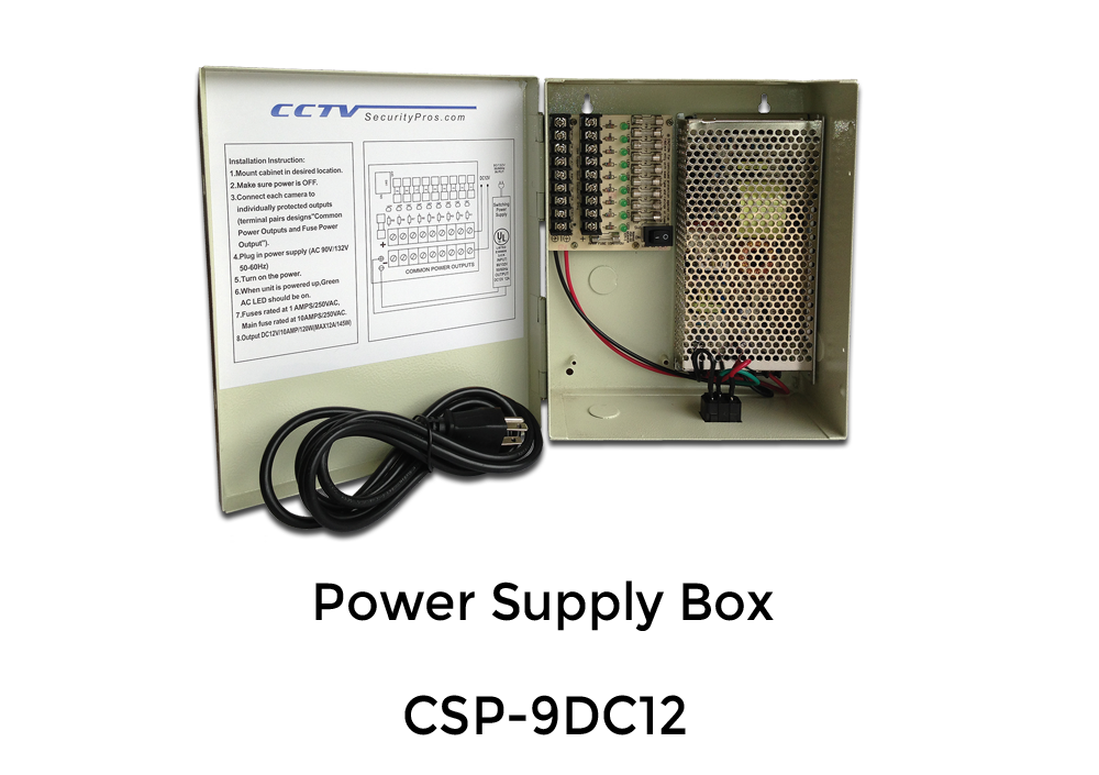 DC 9 PORT, 12 AMP Multiple Output Power Supply Box