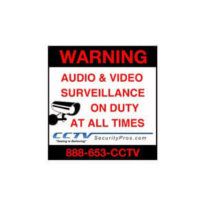 CCTV Surveillance Sticker (Indoor or Outdoor Use) 6 Inches x 6 Inches