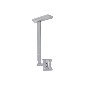 Silver Ceiling Mount for up to 30in LCD TV/Monitor Max Load 44lbs 20° Tilt, 190° Swivel