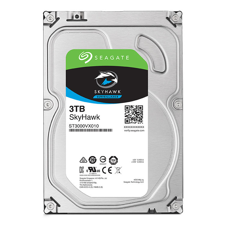 Seagate SkyHawk Surveillance Grade Hard Drives  (From 1 Terabyte to 8 Terabytes)