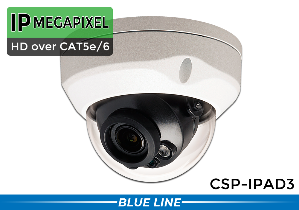 (MOTORIZED ZOOM!) Indoor/Outdoor 3 MP 1080p Infrared Dome IP Camera with 4x Controllable Motorized Lens