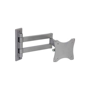 LCD TV Wall Mount Silver VESA 75/100 compliant 33 lbs Capacity 45° Tilt, 180° Lateral Rotation