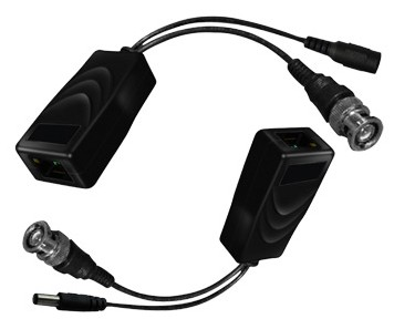 RJ45 to BNC Passive Video Balun Video and Power Converters - 2-Piece RG59 / RJ45 Cat5e