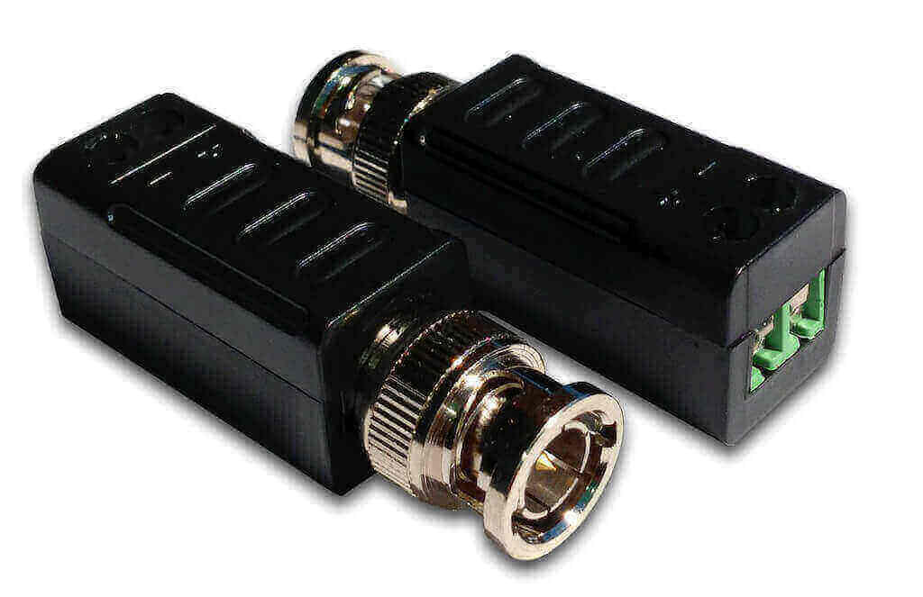 Video BNC Balun Passive Transceivers, 2-Piece Set