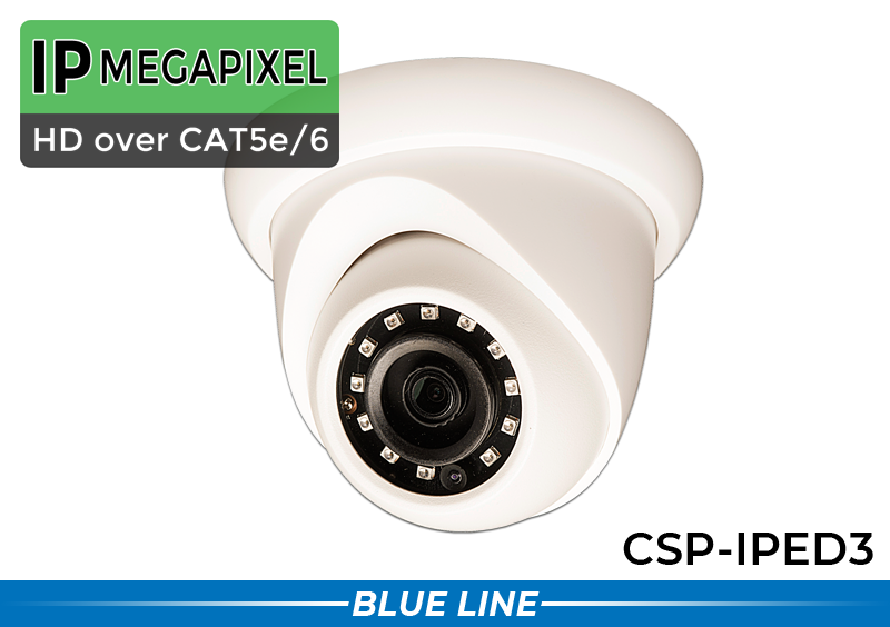 SPY DOME Indoor/Outdoor 3MP High Definition IP Infrared Camera with 90 Foot Night Vision