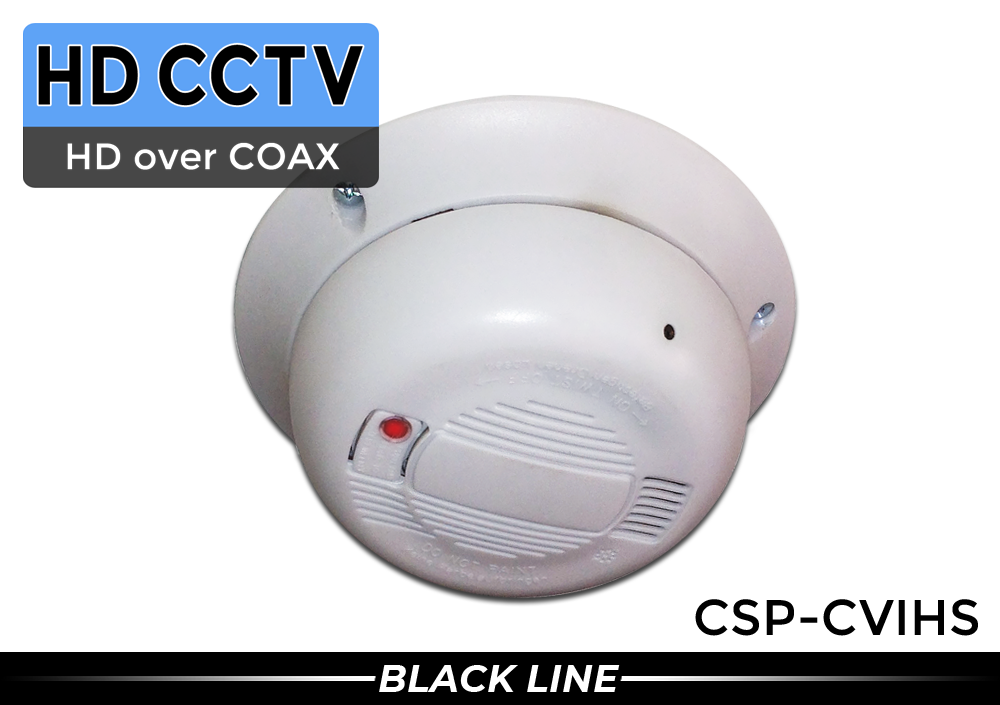 (BUILT IN MICROPHONE) 2 Megapixel HD CVI Smoke Detector Camera - 1080p with AUDIO