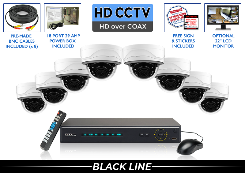 HD Dome Security Camera Surveillance System with 16 Channel DVR / 8PROCVIMD5