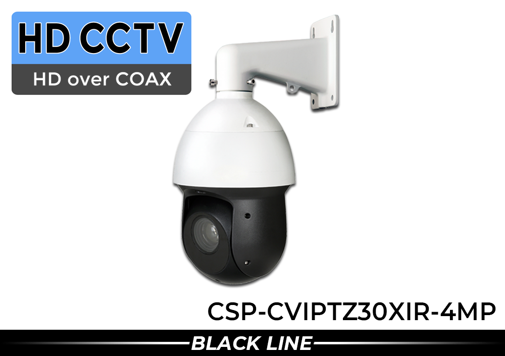 (328 Foot in Complete Darkness) HD Over Coax 4 Megapixel PTZ Infrared Security Camera with 30x Zoom and up to 328 Foot Night Vision