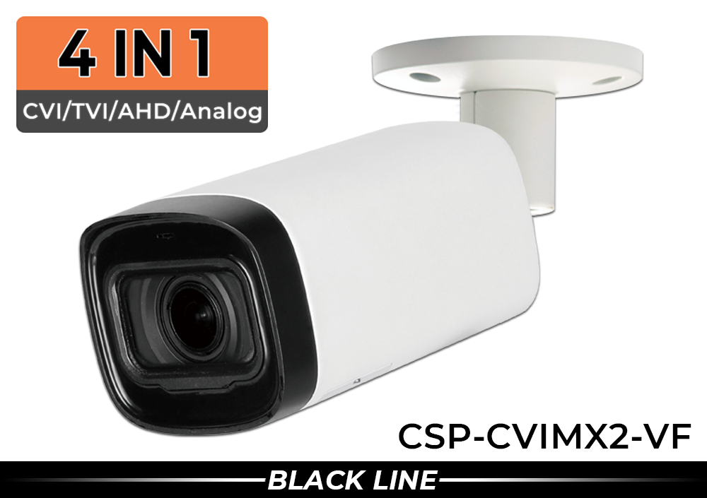 Infrared Bullet Security Camera with 1000 Lines of Resolution and Adjustable Lens (Supports Analog & HD Over Coax Analog, CVI, TVI and AHD)