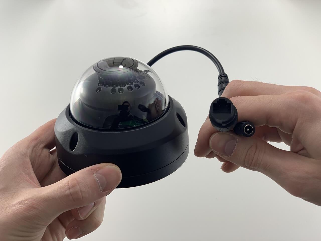 IP 4 Megapixel Indoor/Outdoor POE Infrared Vandal Dome with 2.8mm Wide Lens