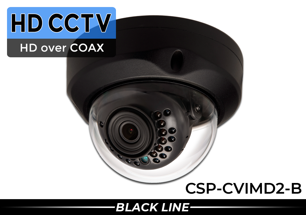 HD Over Coax 2MP 1080p IR Dome Security Camera with Wide Lens and Night Vision
