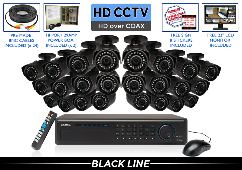 "24 Camera ""EXTREME SERIES"" SUPER HIGH DEFINITION 4 Megapixel HD Indoor/Outdoor Infrared Bullet Security Camera System with 3.6mm Lens and 100 Foot Night Vision"