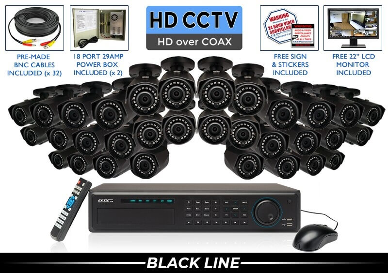 "32 Camera ""EXTREME SERIES"" Super HIGH DEFINITION 4 Megapixel HD Indoor/Outdoor Infrared Bullet Security Camera System with 100 Foot Night Vision"