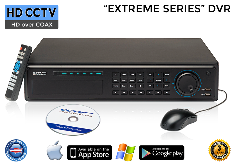 EXTREME Series Complete 24 HD over Coax Camera System with 32 Channel DVR / 24XTRCVIMD4-B