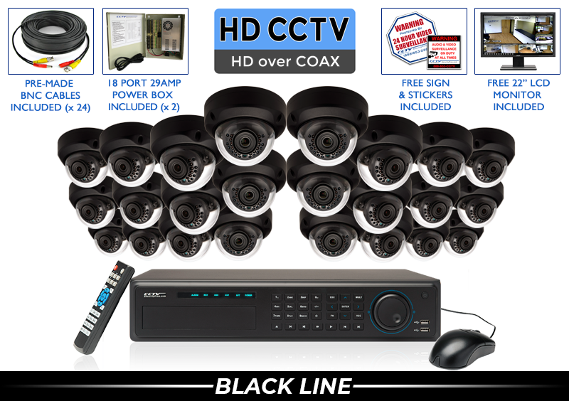 4 Megapixel HD Indoor/Outdoor Infrared Dome Security Camera System with 2.8mm Lens
