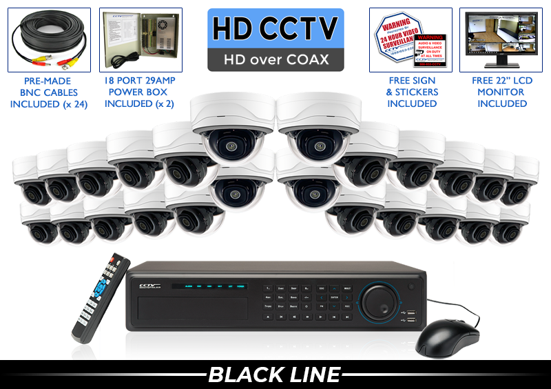 EXTREME Series Complete 24 HD over Coax Camera System with 32 Channel DVR / 24XTRCVIMD5