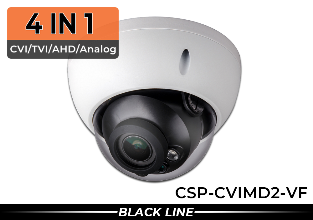 High Resolution Dome Security Camera with 2.7 to 13.5mm Lens (4 in 1)