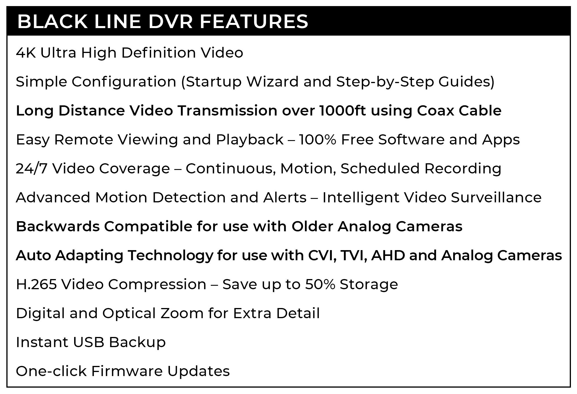 Black line DVR Features