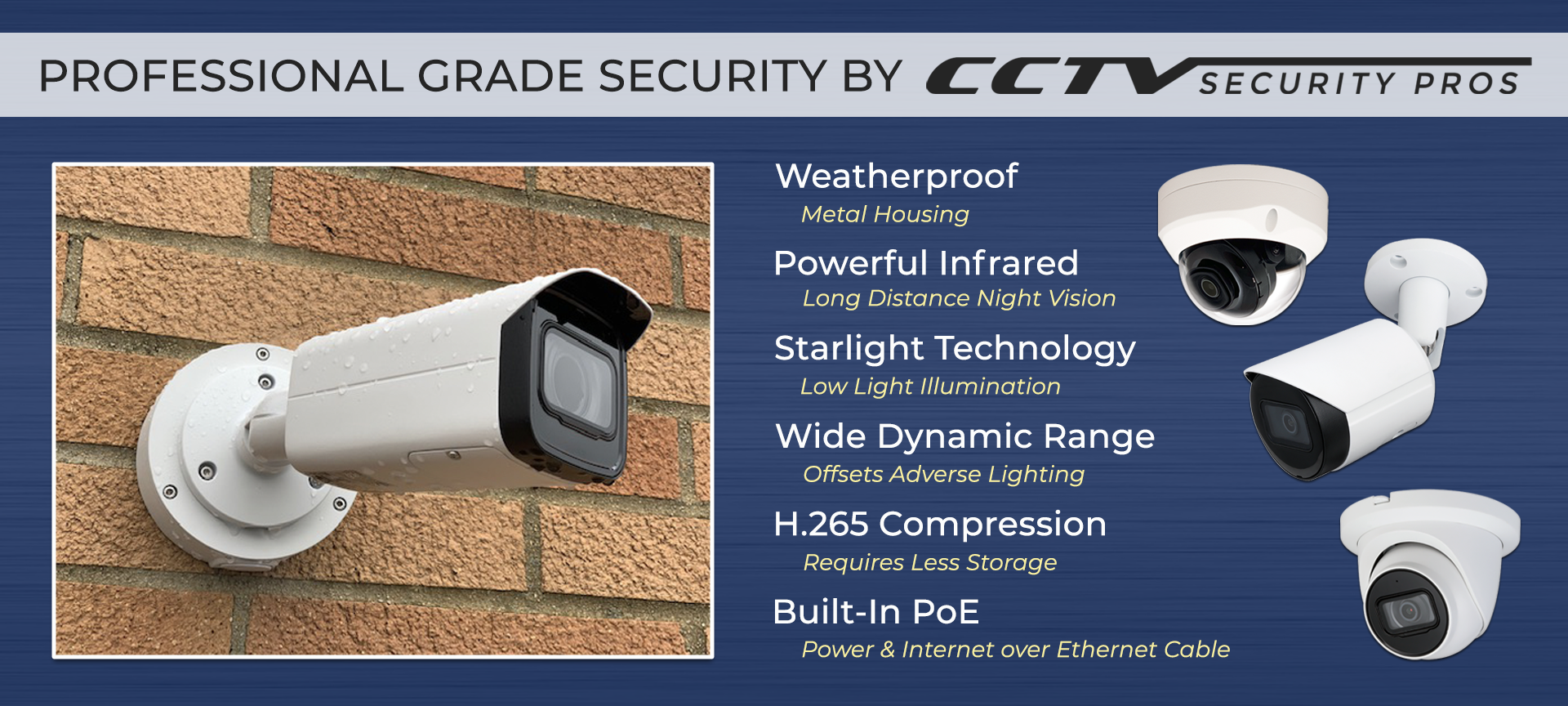 Professional Grade Security camera by CCTV security pros