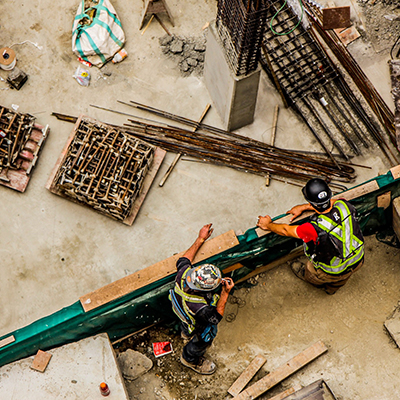 Workers at Construction Sites