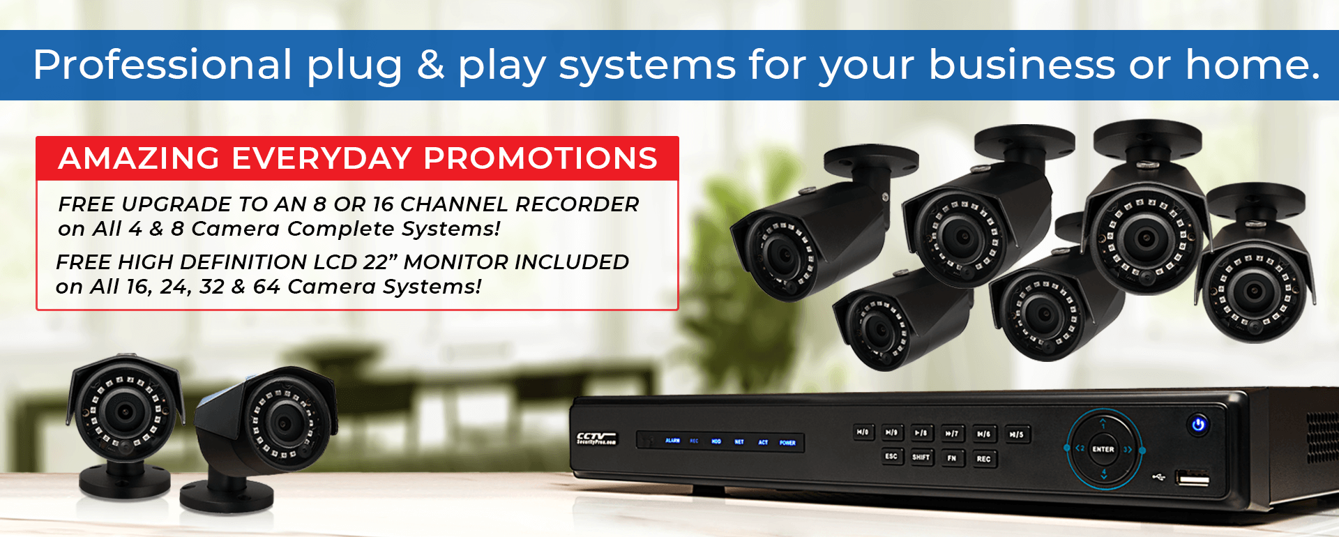 Professional Plug and Play Camera system