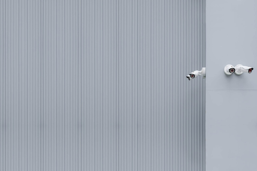 security-cameras-mounted-on-a-wall