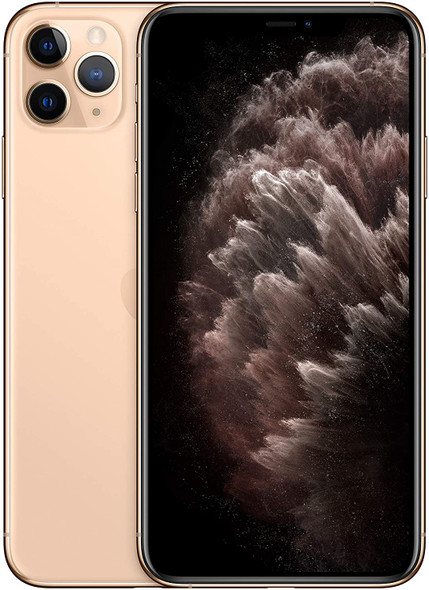 """Apple iPhone 11 Pro Max (Consumer Cellular) 6.5"""" Smartphone 256GB Flash iOS Gold   MWH62LL/A   Refurbished"""