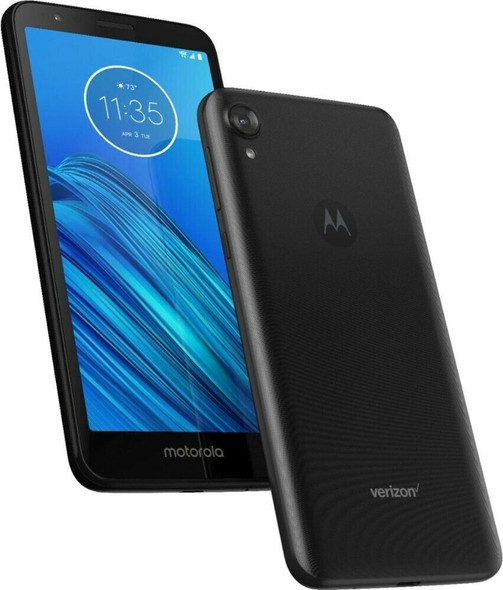 "Motorola 4G Prepaid Moto E6 (Verizon) 5.5"" Smartphone 16GB Flash Android Black"
